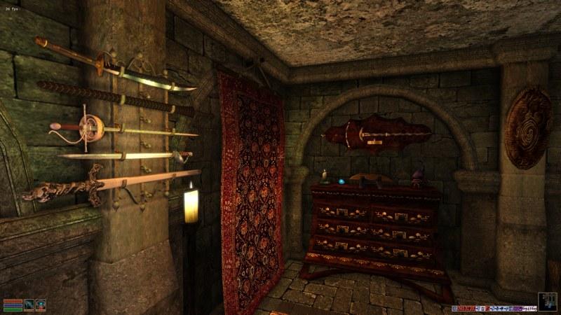 Tel Uvirith Vault Prison Barracks: Trenam Faren's Sword Collection