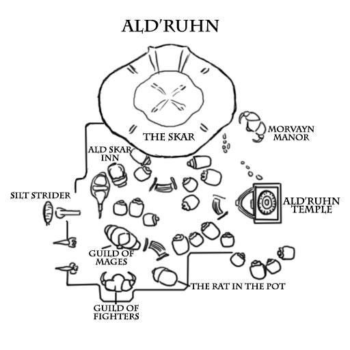 Books of Vvardenfell: Map – Ald'Ruhn City Map