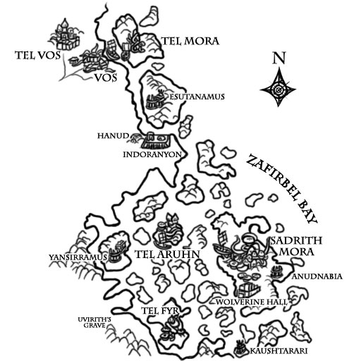 Books of Vvardenfell: Map – North Azura's Coast Region