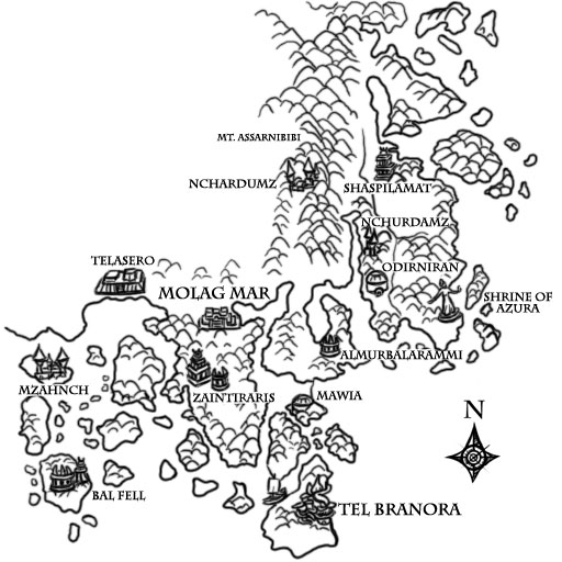 Books of Vvardenfell: Map – South Azura's Coast Region