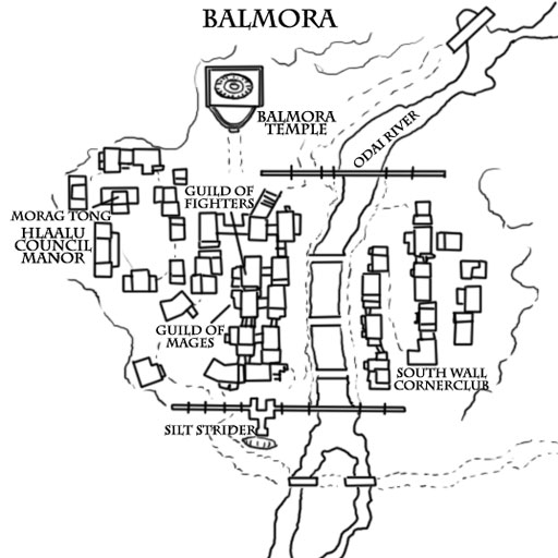 Books of Vvardenfell: Map – Balmora City Map