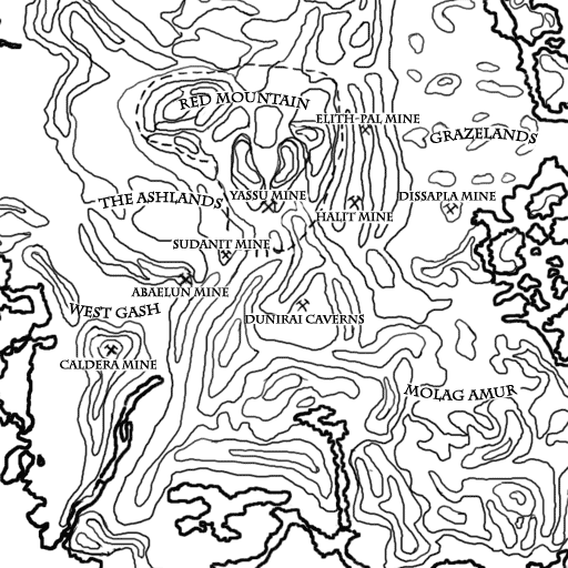 Books of Vvardenfell: Map – Mineral Survey
